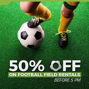 Football Pitch Rental - 50% off