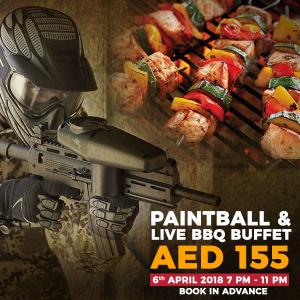 Paintball & Live BBQ Buffet