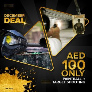 December Deal -Paintball + Target Shooting