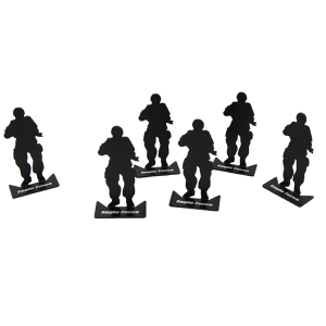 ARMY-FORCE-MODIFIED-SILHOUETTE-TARGET - (6PCS-SET)