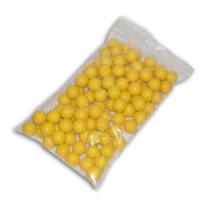 AIRGUN--.68CAL.-RUBBER-BALL--REUSABLE-(25-COUNT)---YELLOW