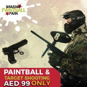 Paintball Game & Target Shooting